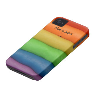 Funny Play Dough in Rainbow Colors iPhone 4 Case