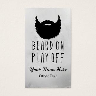 Funny Play-Off Beard Custom Business Cards
