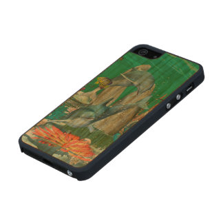 Funny playing dolphins with other fish carved® cherry iPhone 5 case