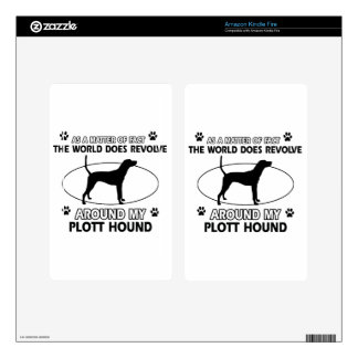 Funny PLOTT HOUND designs Decal For Kindle Fire