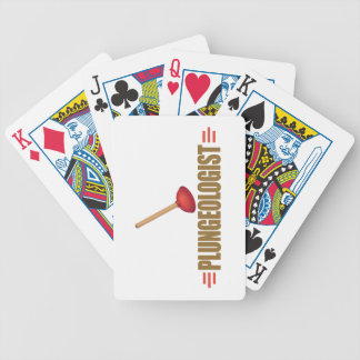 Funny Plumber Bicycle Playing Cards