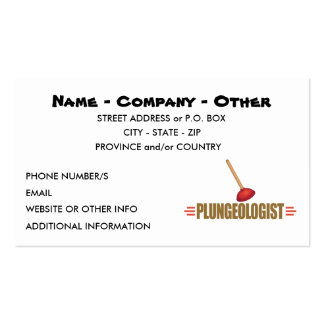 Funny Plumbing Double-Sided Standard Business Cards (Pack Of 100)