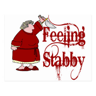 Funny PMS Stabby Postcard