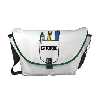 funny pocket protector geek design messenger bag