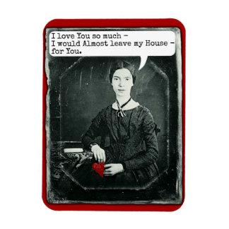 Funny Poet Emily Dickinson Valentine's Day Rectangular Photo Magnet
