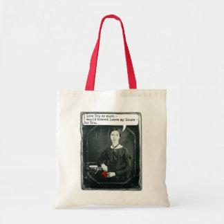 Funny Poet Emily Dickinson Valentine's Day Tote Bag