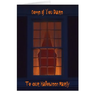 Funny Poetic Halloween Party Invitation Card