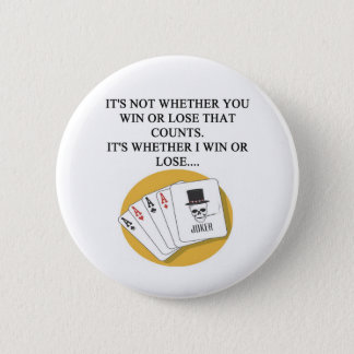 funny poker bridge card player design button