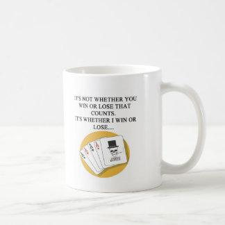 funny poker bridge card player design coffee mug