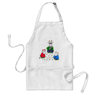 Funny Poker Cow Games Adult Apron