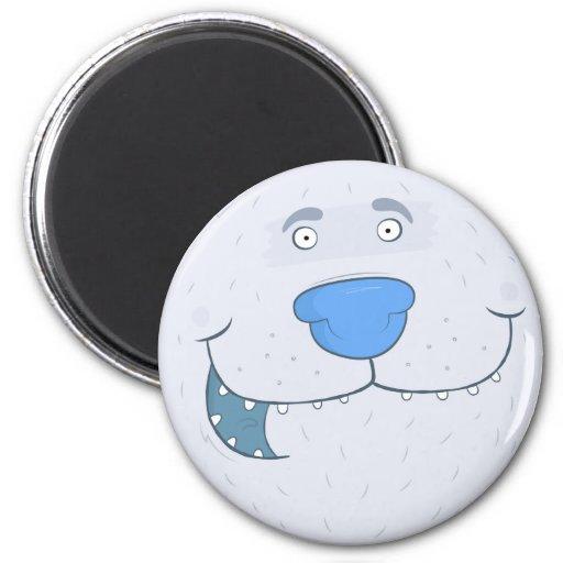 funny polar bear 2 inch round magnet