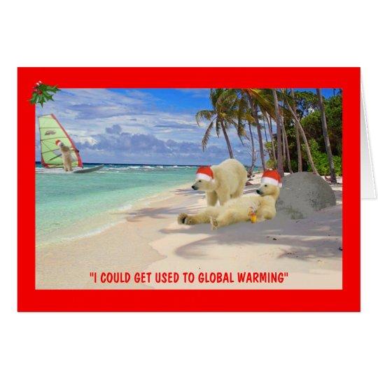 Funny Polar Bear Christmas Card