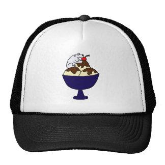 Funny Polar Bear Eating Ice Cream Sundae Trucker Hat