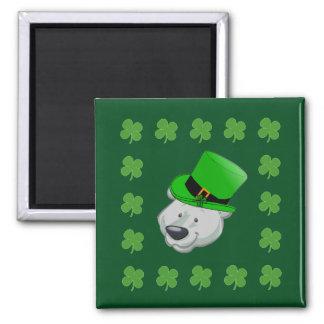 Funny Polar Bear Magnet - St Patricks Day Favors