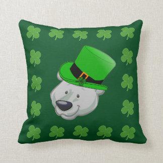 Funny Polar Bear Pillow - St Patricks Day Decor
