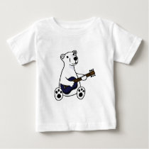Funny Polar Bear Playing Guitar Baby T-Shirt