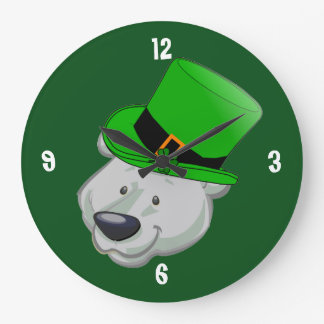 Funny Polar Bear Wall Clock - St Pattys Day Gifts