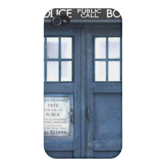 Funny Police Call Box Case For iPhone 4