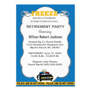 Police Officer Retirement Invitations Zazzle