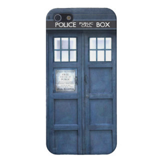 Funny police phone box cover for iPhone SE/5/5s