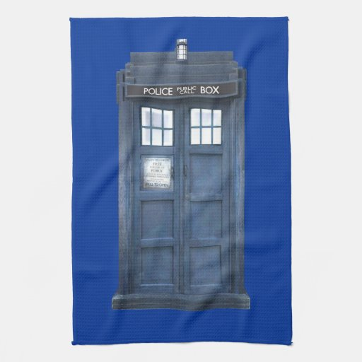 Funny Police Phone Box Kitchen Towel