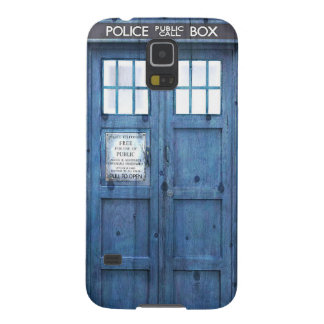 Funny Police phone Public Call Box Case For Galaxy S5