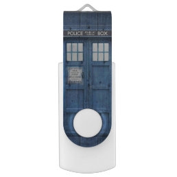 Funny Police phone Public Call Box Flash Drive