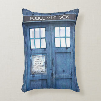 Funny Police phone Public Call Box Accent Pillow
