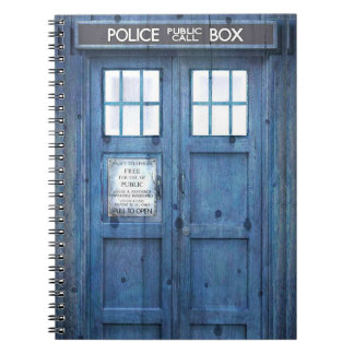 Funny Police phone Public Call Box Notebook