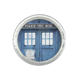 Funny Police phone Public Call Box Photo Ring