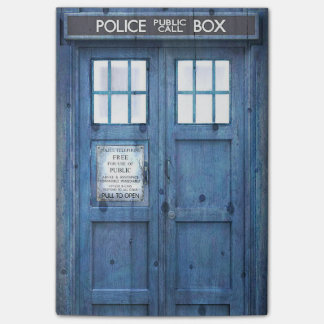 Funny Police phone Public Call Box Post-it Notes