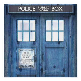 Funny Police phone Public Call Box Poster