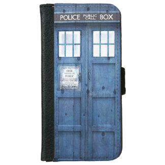 Funny Police phone Public Call Box Wallet Phone Case For iPhone 6/6s