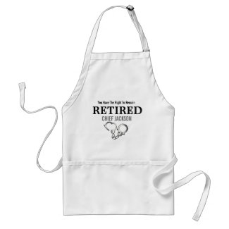 Funny Police Retirement Apron
