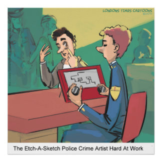 Funny Police Sketch Artist Rick London Poster