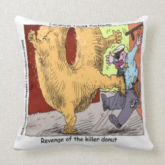 Funny Police Vs Donut Cotton Throw Pillow Pillow