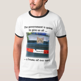 Funny Polictical T Shirt: Cat in Can Shirt