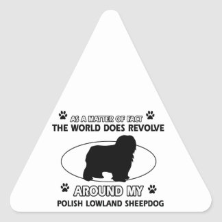 Funny POLISH LOWLAND designs Triangle Sticker