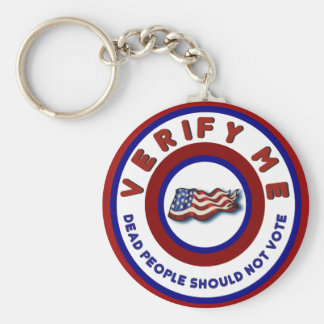 Funny Political Election Dead People Shouldnt Vote Basic Round Button Keychain