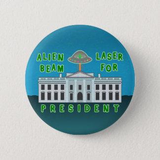 Funny Political Election Humor   Alien Laser Beam Pinback Button