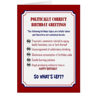 FUNNY POLITICALLY CORRECT BIRTHDAY CARD