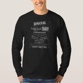 Funny Politically Correct Chalkboard Christmas Top T-shirt