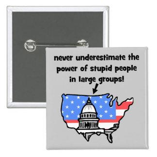 funny politics 2 inch square button