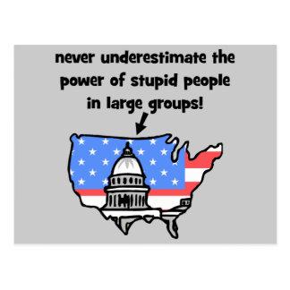 funny politics postcard