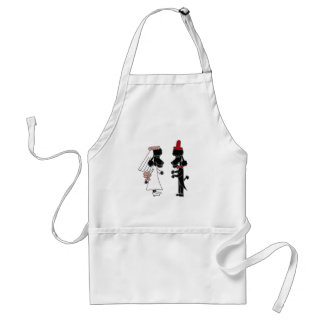 Funny Poodle Bride and Groom Wedding Adult Apron