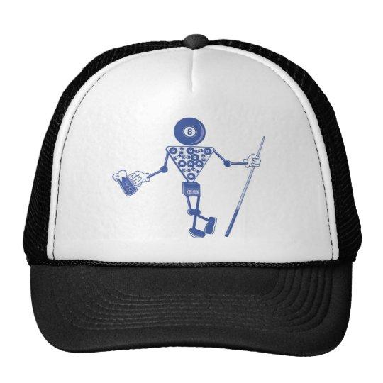 funny pool game shark trucker hat