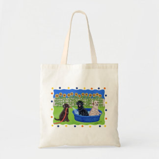 Funny Pool Party Labradors Bags