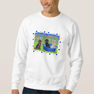 Funny Pool Party Labradors Sweatshirt