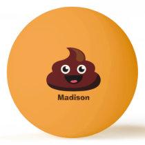 Funny Poop custom name ping pong balls