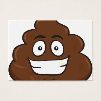 funny poop emoji business card
